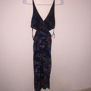 Lulu's Midi Cut Out Slit Dress
